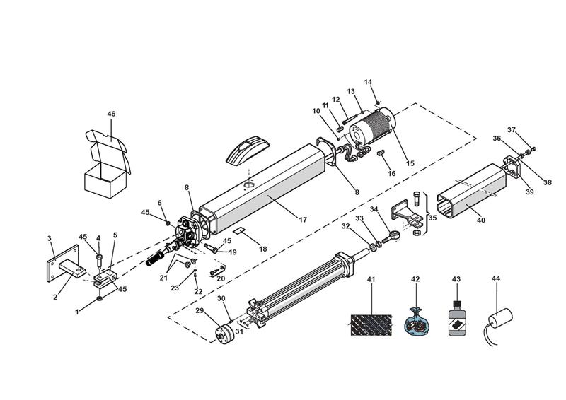 FAAC 400 Hydraulic Actuator   115V